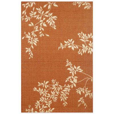 Liora Manne Terrace Vine 7-Foot 10-Inch x 7-Foot 10-Inch Indoor/Outdoor Rug in Terracotta