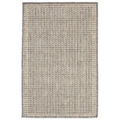 Liora Manne Terrace Texture 1-Foot 11-Inch x 2-Foot 11-Inch Indoor/Outdoor Accent Rug in Silver