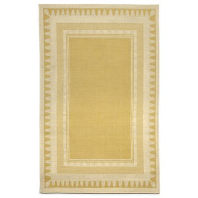 Liora Manne Terrace Modern Border 2-Foot x 3-Foot Indoor/Outdoor Accent Rug in Ivory