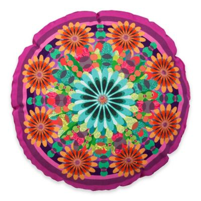 Desigual® Moon Floral Kaleidoscope Round Throw Pillow