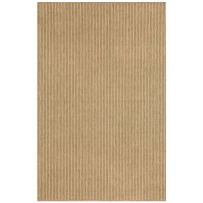 Liora Manne Monterey Texture Stripe 2-Foot x 3-Foot Indoor/Outdoor Rug in Beige
