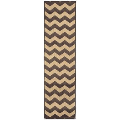 Liora Manne Monterey Zig Zag 4-Foot 10-Inch x 7-Foot 6-Inch Indoor/Outdoor Area Rug in Grey