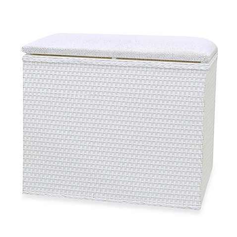 Buy Lamont Home Barrington Bench Hamper In White From Bed Bath Beyond