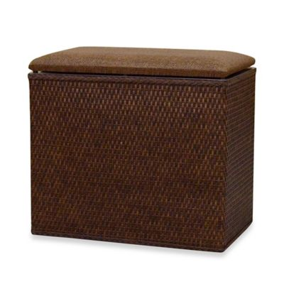 Lamont Home™ Barrington Bench Hamper in Chocolate