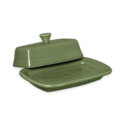 Fiesta® Extra-Large Covered Butter Dish in Sage
