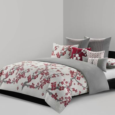 N Natori® Cherry Blossom Reversible Queen Comforter Set in Multi