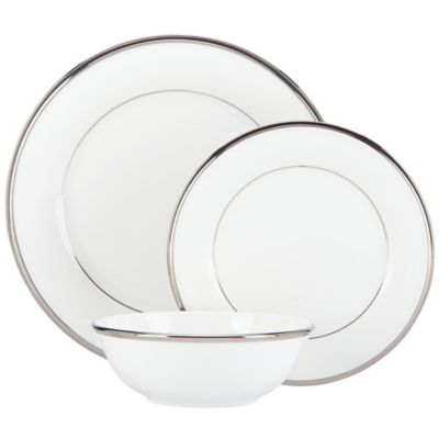 Lenox® Solitaire® White 3-Piece Place Setting with All Purpose Bowl