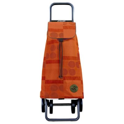Rolser LOGOS 4-Wheel Foldable Shopping Cart in Orange