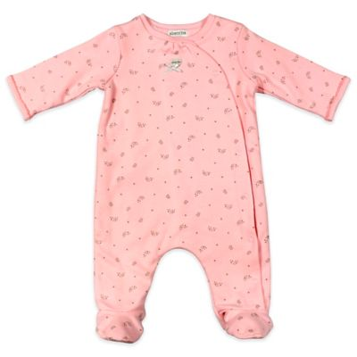 Absorba® Paris Size 6-9M Crowns/Bears Footie in Pink/Metallic