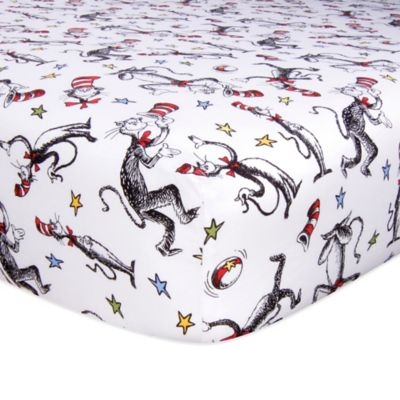 Trend Lab® Dr. Seuss™ Cat in the Hat Print Fitted Crib Sheet