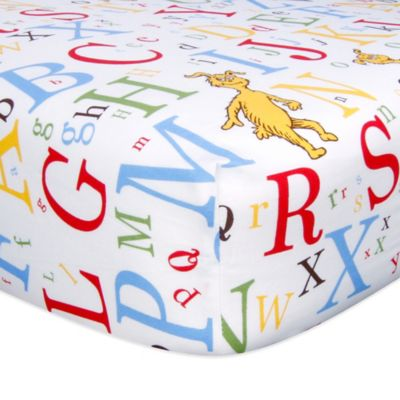 Dr. Seuss™ ABC Fitted Crib Sheet