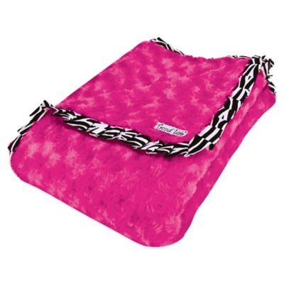 Trend Lab® Zahara Ruffled Velour Receiving Blanket