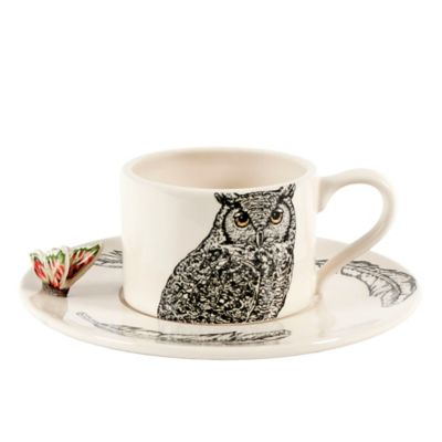 Edie Rose by Rachel Bilson Owl Teacup and Saucer Set