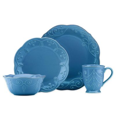 Lenox® French Perle™ 16-Piece Dinnerware Set in Marine Blue