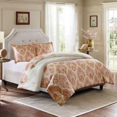 Harbor House™ Kalia Reversible Full Comforter Set in Coral