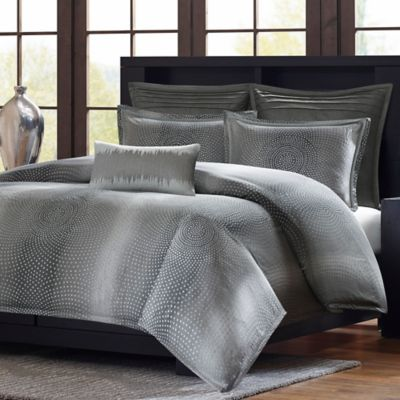 Metropolitan Home Shagreen King Comforter Set in Grey