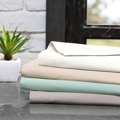 Ink + Ivy 300-Thread-Count Cotton Twin Sheet Set in Khaki