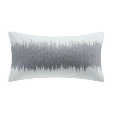 Metropolitan Home Shagreen Oblong Throw Pillow in Silver