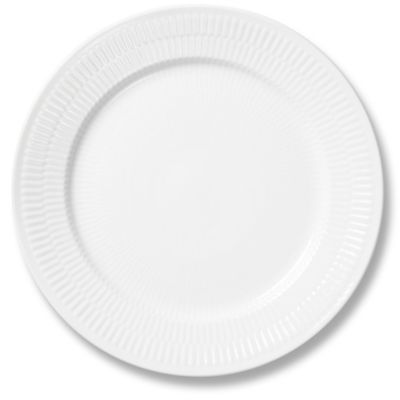 Fluted Dinner Plate in White