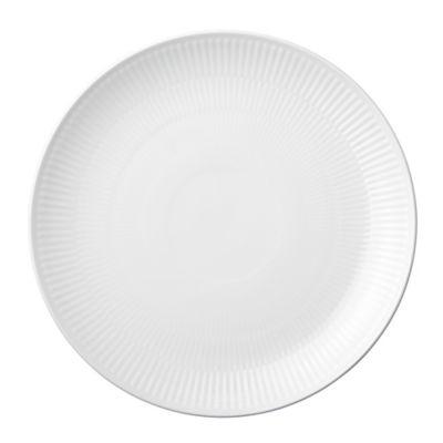 Royal Copenhagen Fluted Coupe Dinner Plate in White