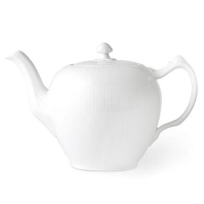 Royal Copenhagen Fluted Teapot in White