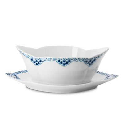 Royal Copenhagen Princess Gravy Boat with Stand