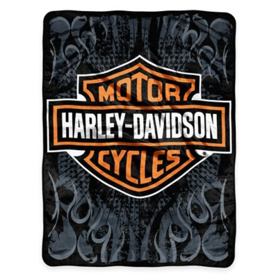 Harley Davidson® Burn Micro Raschel Throw by Northwest Company