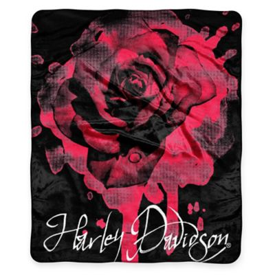 Harley Davidson® Rose Raschel Throw by Northwest Company