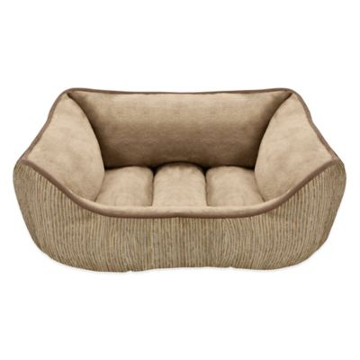 Reversible Jacquard Rectangular Cuddler Pet Bed in Sage