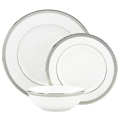 Lenox® Lace Couture 3-Piece Place Setting with All Purpose Bowl in White