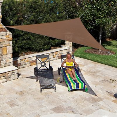 Coolaroo® 11-Foot 10-Inch Triangle Shade Sail in Pebble