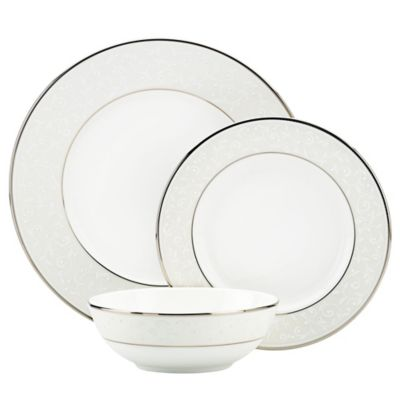 Lenox® Opal Innocence 3-Piece Place Setting with All Purpose Bowl