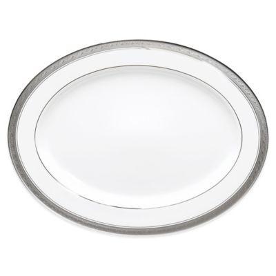 Noritake® Crestwood Platinum 14-Inch Oval Platter
