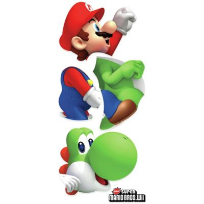 Yoshi/Mario Peel and Stick Giant Wall Decal