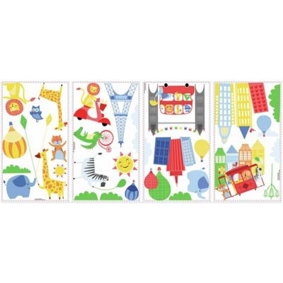 York Wallcoverings Animals in the City Peel and Stick Giant Wall Decals (Set of 32)