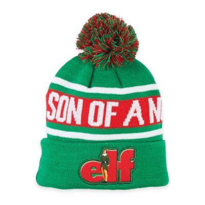 """""""Elf"""" """"Son of a Nutcracker"""" Pom Beanie"""