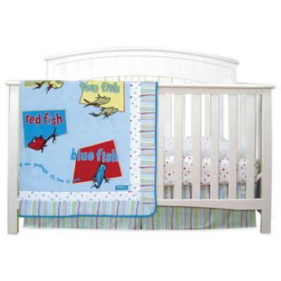 Blue and Red Crib Bedding Sets