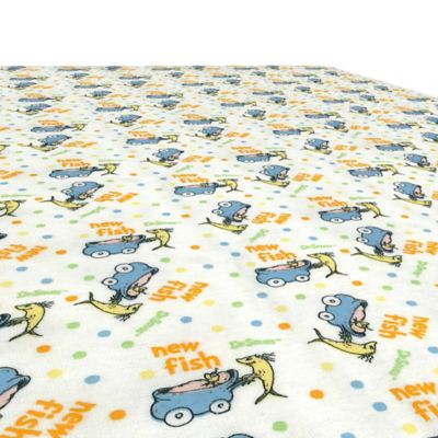 "Trend Lab® Dr. Seuss™ One Fish Two Fish ""New Fish"" Flannel Fitted Crib Sheet"