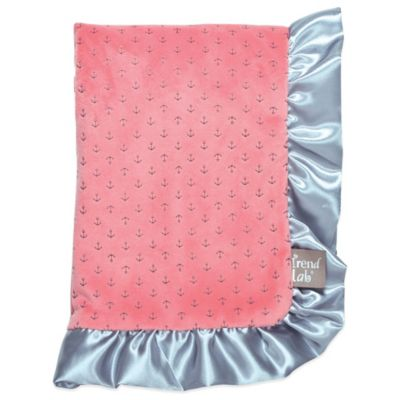 Trend Lab® Cocoa Coral Anchors Receiving Blanket