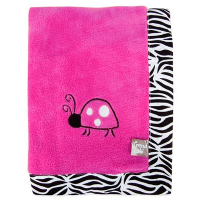 Trend Lab® Zahara Coral Fleece Receiving Blanket