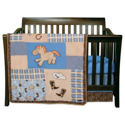 Blue Tan Bedding Set