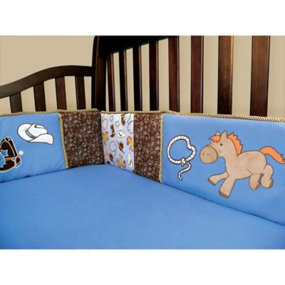 Trend Lab® Cowboy Baby 4-Piece Crib Bumper Set