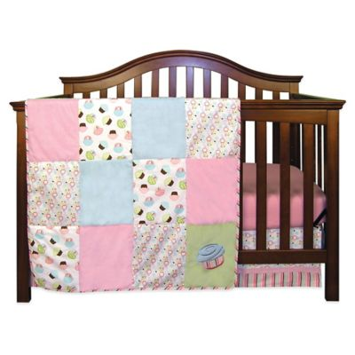 Blue Pink and Green Crib Bedding Sets