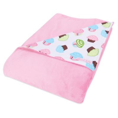 Trend Lab® Cupcake 2-Layer Receiving Blanket