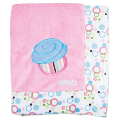 Trend Lab® Cupcake Velour Receiving Blanket
