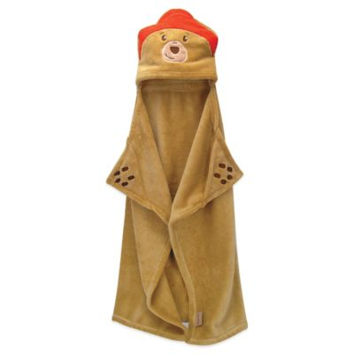 Trend Lab® Paddington Bear™ 30-Inch x 40-Inch Velour Hooded Blanket in Tan