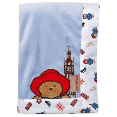 Trend Lab® Paddington Bear™ 30-Inch x 40-Inch Velour Receiving Blanket in Blue