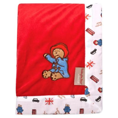 Trend Lab® Paddington Bear™ 30-Inch x 40-Inch Velour Receiving Blanket in Red