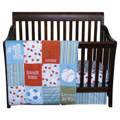 Blue and Green Crib Bedding