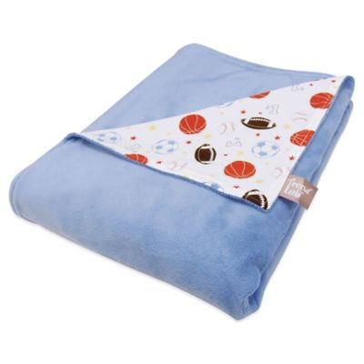 Trend Lab® Little MVP Little MVP Receiving Blanket in Blue/Sports Print